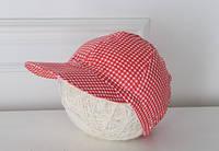 """Детская летняя кепка """"Красная клетка"""" для мальчика"""