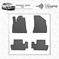 Комплект резиновых ковриков Stingray для автомобиля  PEUGEOT 3008 2009-    4шт.
