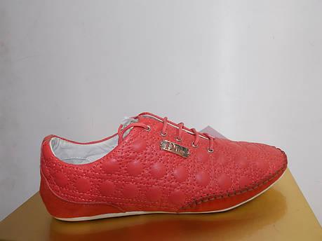 Женские мокасины Dior 8835 красные, фото 2