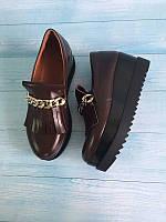 Женские туфли Allure на платформе цепочка натуральная кожа 2017 AL0083