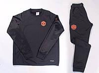 Спортивний костюм Adidas, Манчестер Юнайтед (чорний). Футбольний, тренувальний. Сезон 16/17, фото 1