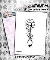 Штамп орхидея