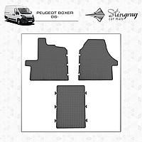 Комплект резиновых ковриков Stingray для автомобиля  PEUGEOT BOXER 2006-     4шт.