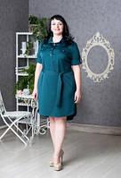 Платье рубашка Регина новинка  больших размеров повседневное   модели в размерах 50, 52, 54, 56, 58 оптом