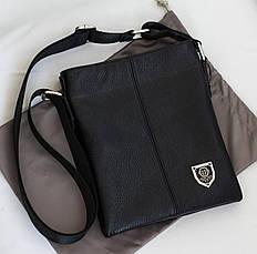 Кожаная мужская сумка Philipp Plein 22*19см, фото 3