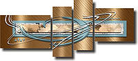 """Модульная картина """"Морская тематика""""  (600х1400 мм)  [4 модуля]"""