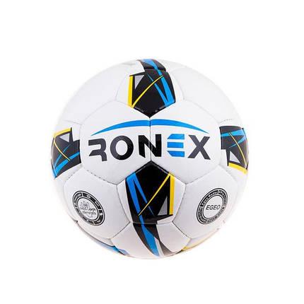 Мяч футбольный DXN Ronex(JM)Sky/Yellow/Black, фото 2