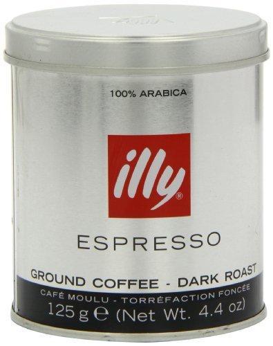 Молотый кофе Illy Espresso Dark 125 гр