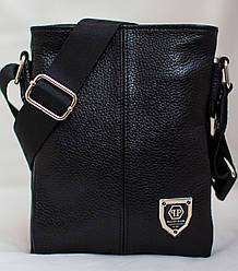 Кожаная мужская сумка Philipp Plein  19*16см