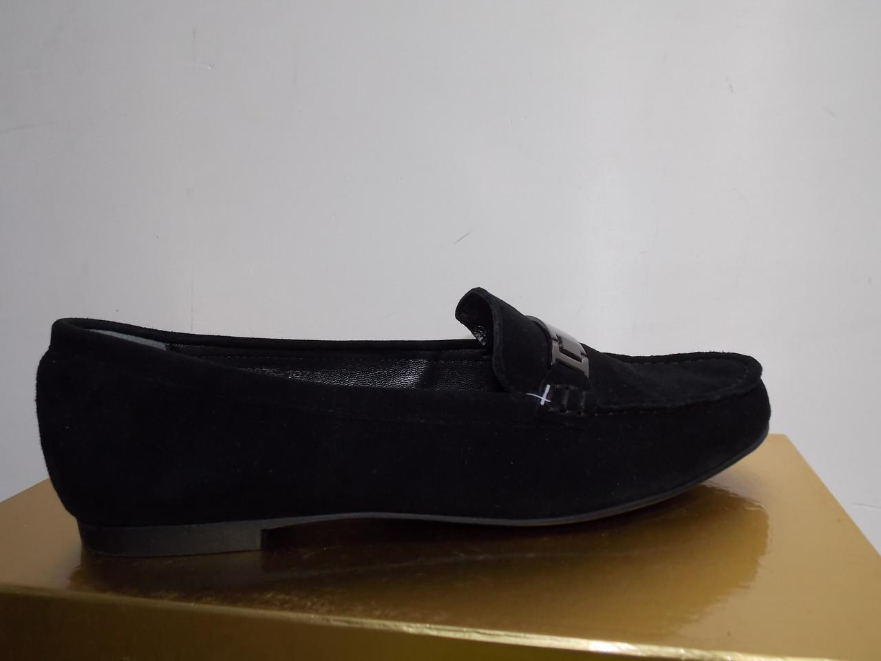 Женские балетки Ferragamo 876 черные замшевые