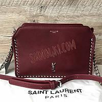 Женская сумка YSL марсала Yves Saint Laurent