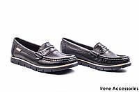 Туфли женские кожаные Nessi (Мокасины, комфорт, Польша)