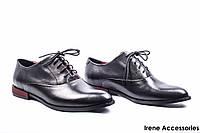 Туфли женские кожаные Nessi (стильные, комфортные на шнуровке)