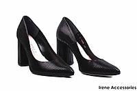 Туфли женские нубук Bravo Moda (элегантные, удобная колодка, шикарные, Польша)