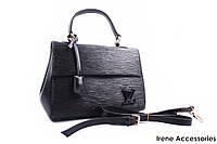 Стильная женская сумка Louis Vuitton маленькая черная