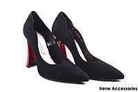 Туфли женские замш Bravo Moda (изысканные, удобная колодка, каблук, модные, Польша)
