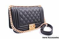 Элегантная женская сумочка CHANEL цвет черный