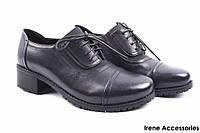 Стильные туфли женские Summergirl эко-кожа (комфортные, каблук, черные)