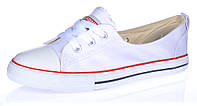 Кеды белые слипоны Meekone East star на шнуровке, Белый, 35 , фото 1