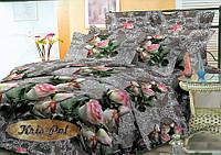 Постельное бельё полуторное 150*220 хлопок (4288) TM KRISPOL Украина