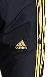 Мужские спортивные штаны Adidas черного цвета (плащевка). Хмельницкий, фото 4