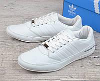 Кроссовки мужские кожаные летние белые Adidas Porshe Design S3 white Вьетнам, Белый, 44