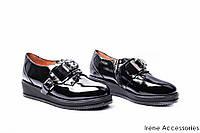 Туфли женские лаковые Deenor(комфортные,танкетка с 35р)