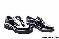Туфли женские лаковые Savio (комфортные на шнуровке)