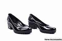 Туфли женские лаковые Guero (комфортные, маленький каблук, Турция)