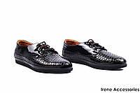 Туфли женские лаковые Guero (комфортные, змеиный принт, платформа)