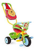 Велосипед трехколесный Be Move Confort Winnie - Smoby - Франция - есть сумка и корзина