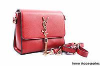Изысканная женская сумка Yves Saint Laurent красная