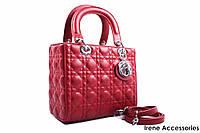 Стильная женская сумка Christian Dior вишня