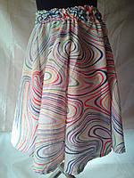 Летняя  юбка на девочку на 9 - 10 лет