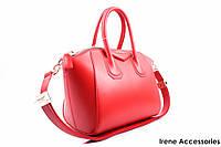 Стильная женская сумка Givenchy кожаная цвет красный