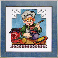Схема на ткани для вышивания бисером Веселая кухня 1