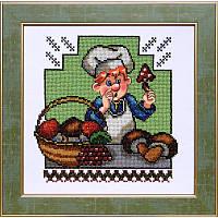 Схема на ткани для вышивания бисером Веселая кухня 2