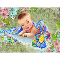 Схема на ткани для вышивания бисером В поисках мамы (сын)