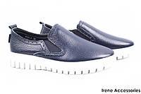 Туфли женские Li Fexpert комфорт эко-кожа (комфортные, платформа, синий, демисезонные)