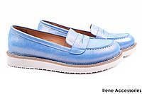 Туфли женские Molly Bessa комфорт текстиль цвет голубой (стильные, платформа, комфорт, Турция)