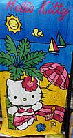 Пляжное полотенце Hello Kitty вид 3  велюр-махра Турция