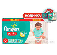 Подгузники-трусики Pampers Pants Размер 6 (Extra Large) 16+ кг, 88 шт