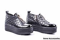 Ботинки женские кожаные El Passo (кеды модные, байка)