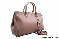 Стильная женская сумка Yves Saint Laurent цвет коричневый, натуральная кожа