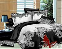Черно-белое постельное белье полутороспальное День и ночь