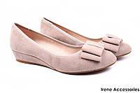 Туфли женские Belorddini натуральный замш (комфортные, платформа, капучино)