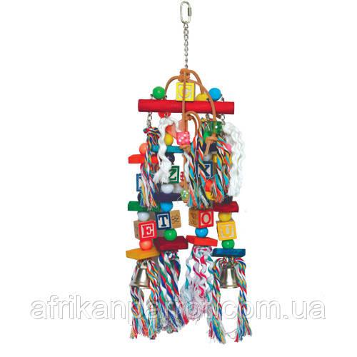 Дерев'яна іграшка для великого папугу( Абетка)