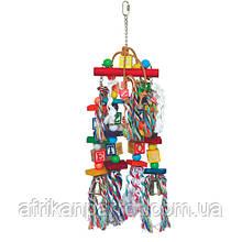 Деревянная игрушка для крупного попугая( Абетка)