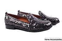 Стильные туфли женские Donna Ricco комфорт текстиль цвет черный (комфортные, каблук, Турция)