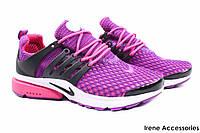 Кроссовки женские Nike текстиль цвет фиолетовый (слипоны, мокасины, платформа, лето, реплика)